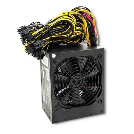 Qoltec Zasilacz ATX 1600W   80 Plus Gold   Gaming Miner (1)