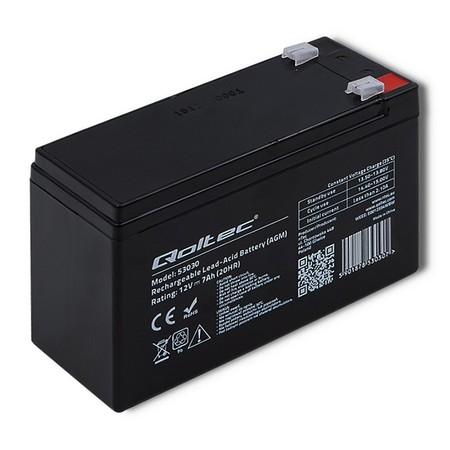 Qoltec Akumulator AGM   12V   7Ah   max 105A (1)