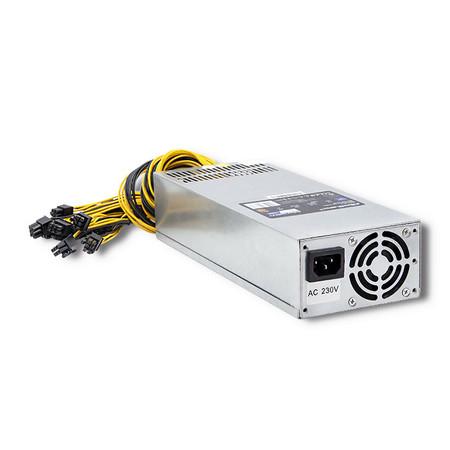 Qoltec Zasilacz PCI-E Smart 1600W   80 Plus Gold - Data mining (1)