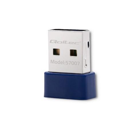 Qoltec Bezprzewodowy mini adapter WiFi Standard N | BT 4.0 USB (1)