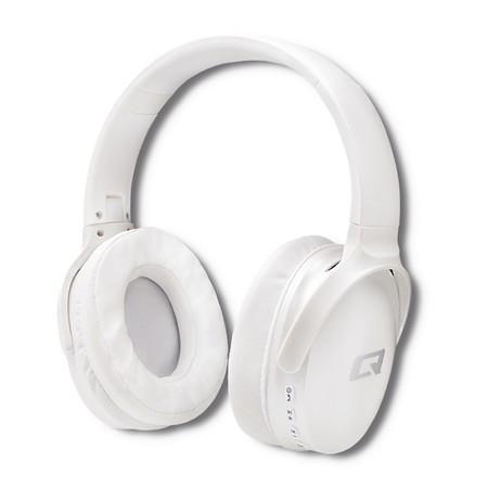 Qoltec Słuchawki bezprzewodowe z mikrofonem Super Bass DYNAMIC | BT | Białe perłowe (1)