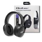 Qoltec Słuchawki bezprzewodowe z mikrofonem Super Bass DYNAMIC | BT | Czarne (5)